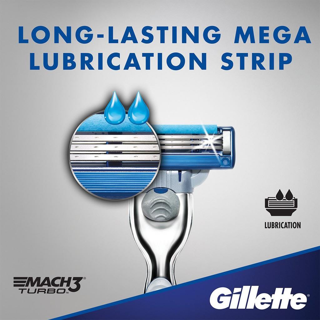 Gillette Mach 3 / Mach3 Turbo 4 Pcs Refill Cartridges Pisau Cukur (ORIGINAL)