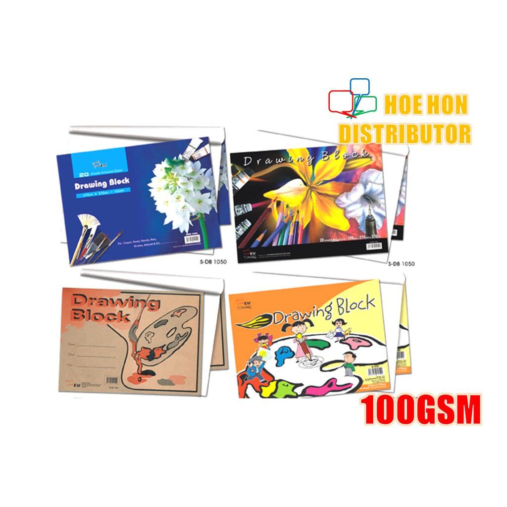 image of Drawing Block / Buku Lukisan A3 100gsm X 16 Sheet