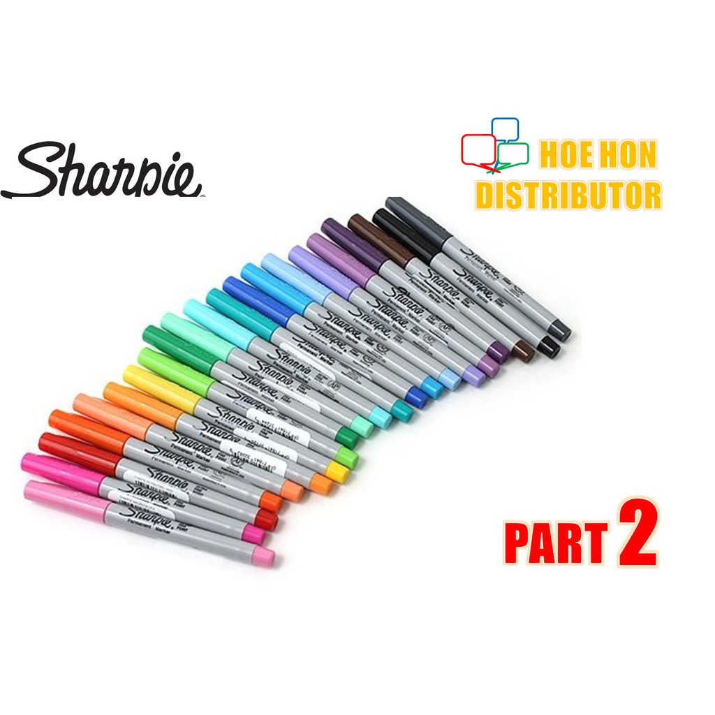 image of Sharpie Ultra Fine Point Permanent Marker / Customise Full Color Part 2