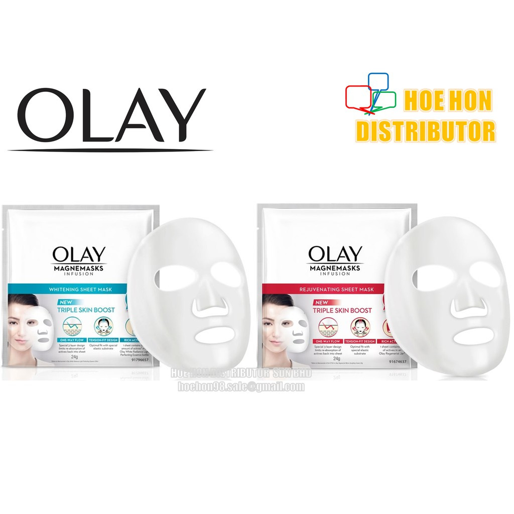 image of Olay Magnemasks Infusion Rejuvenating Sheet Mask 24g (1 Sheet)