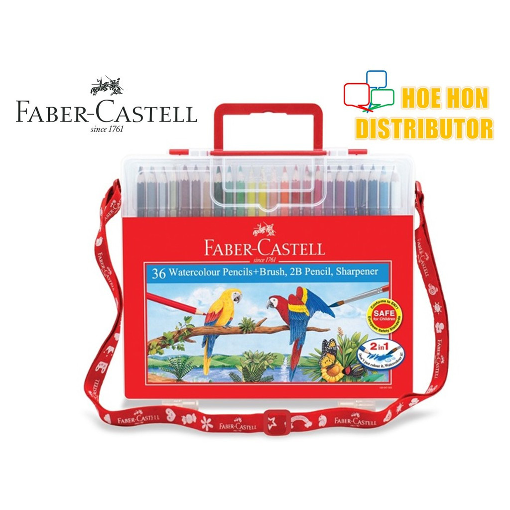 image of Faber Castell / Faber-Castell Wonder Box Water Color Colour Pencil 36