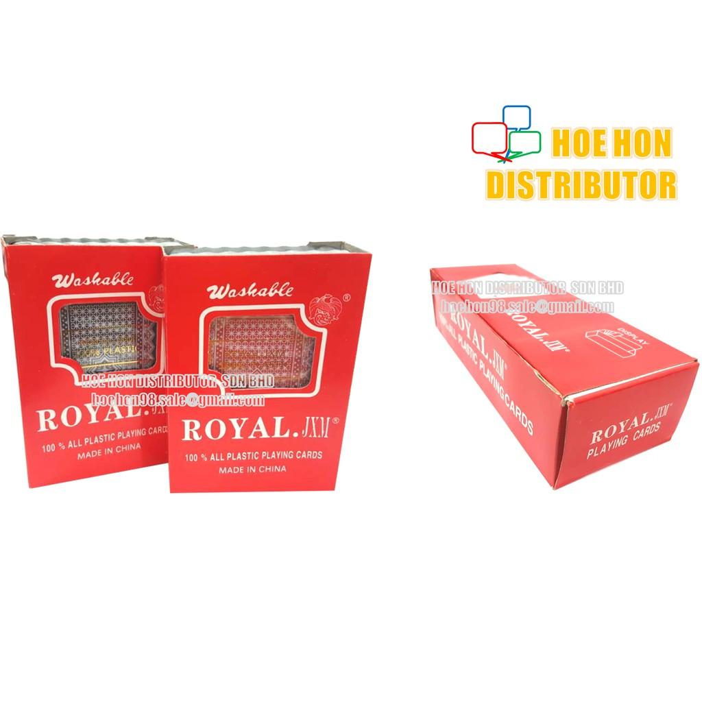 image of Royal Casino Poker 100% Plastic Playing Card 52 + 4 Jokers Deck