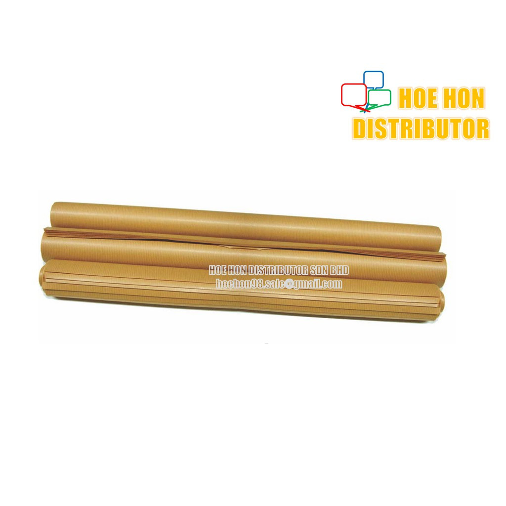 image of Multipurpose Brown Ribbed Kraft Paper 35 X 47 Inch / 80cm X 120cm