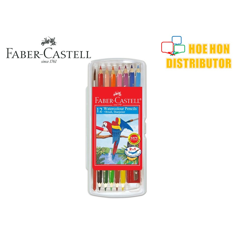 image of Faber Castell / Faber-Castell Wonder Box Water Color Colour Pencil 12 Short