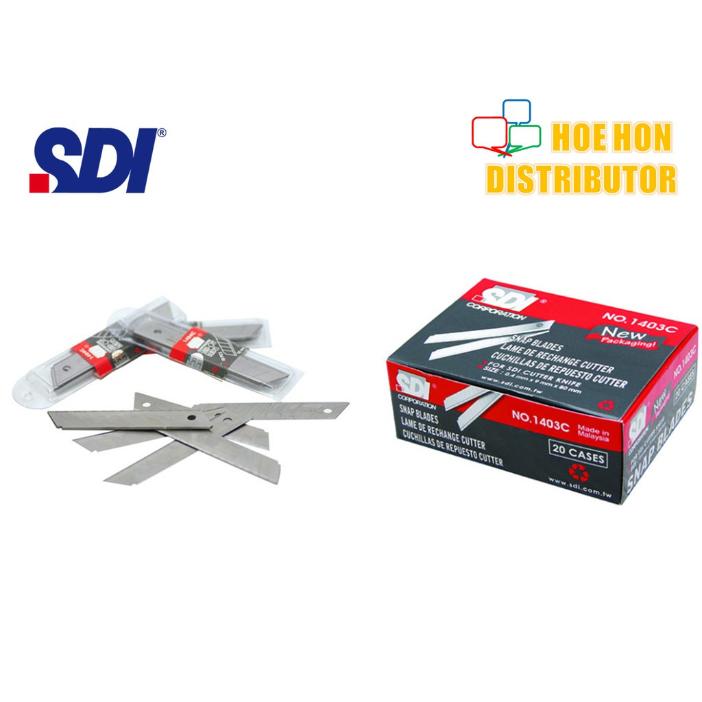 image of SDI Snap Blade / Refill For SDI Small Cutter Knife 5pcs 1403C