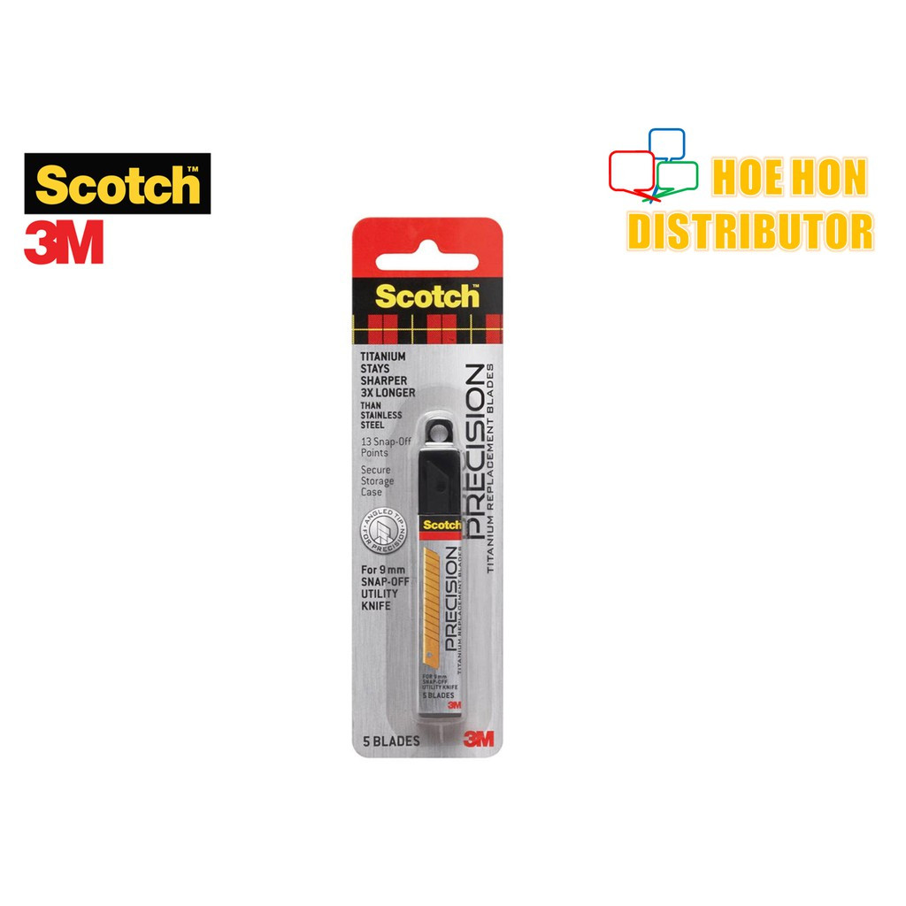 image of 3M Scotch Precision Titanium Replacement / Refill Blade 9mm 5pc
