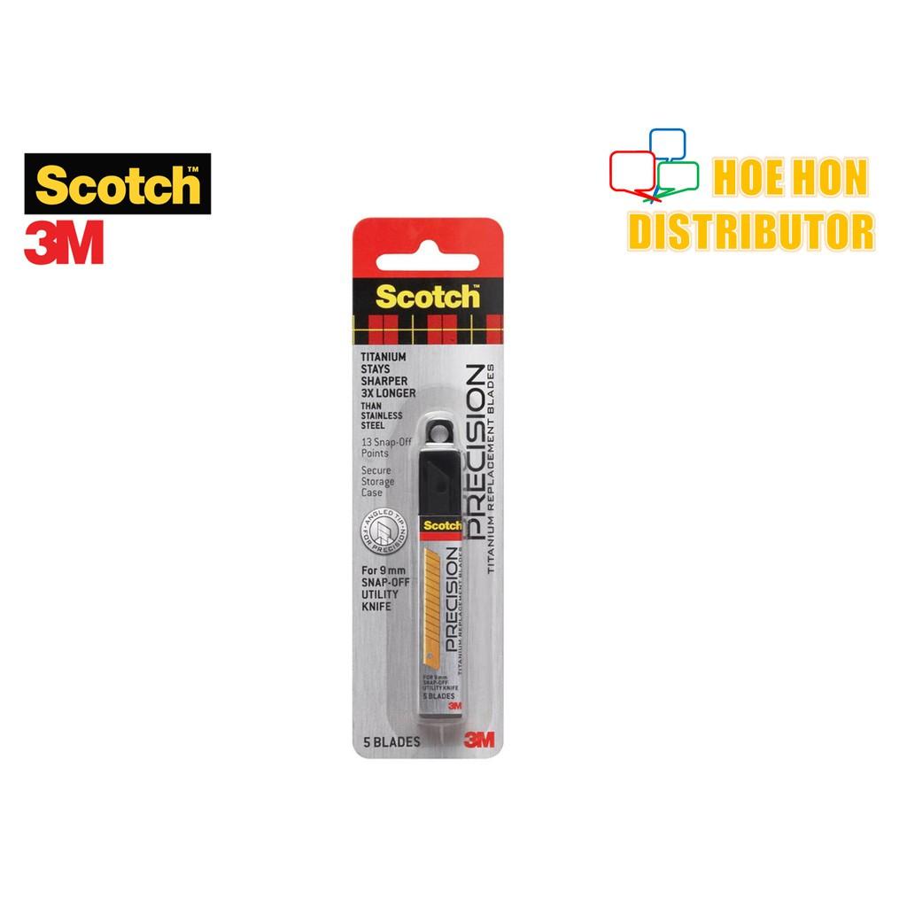 image of 3M Scotch Precision Titanium Replacement / Refill Blade 9mm 5pc