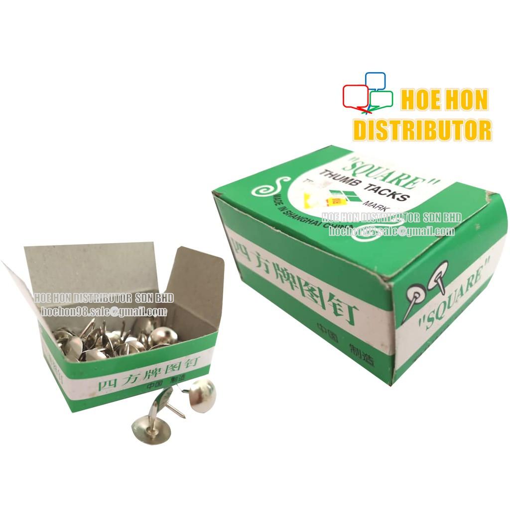 image of School & Office Short Pin Thumb Tack / Thumbtack / Paku Tekan 16g
