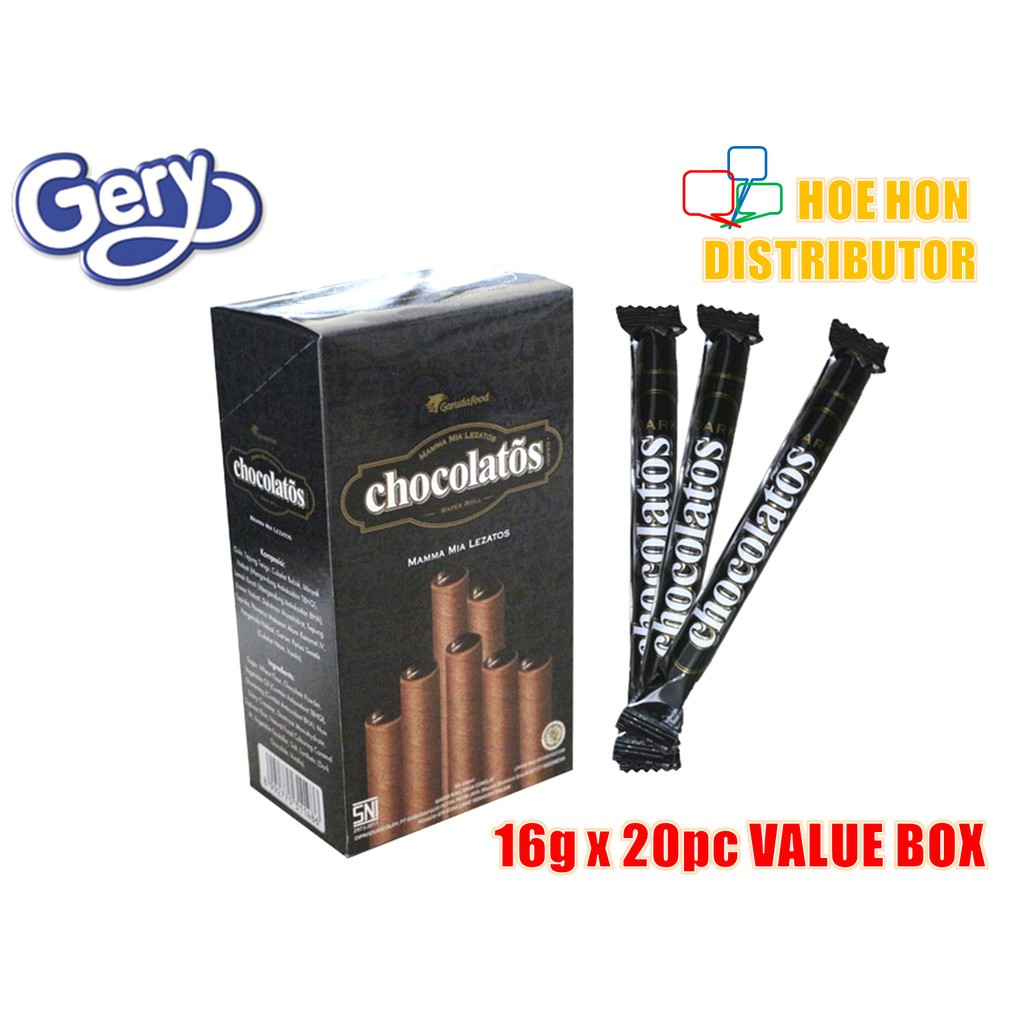 image of [Value Box] Gery Chocolatos Dark Chocolate Wafer Roll 16g X 20 Sticks