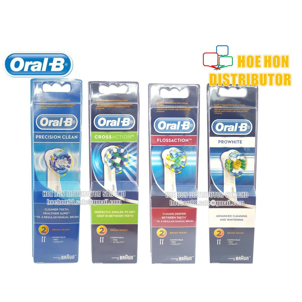 image of Oral B Precision Clean, Crossaction, Flossaction, 3D Prowhite Brush Head Refillion, 3D Prowhite Brush Head Refill