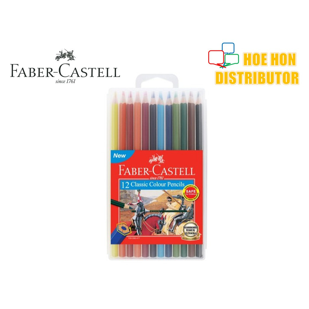 image of Faber-Castell / Faber Castell Slim Flexi Case Classic Colour Pencil 12 115890