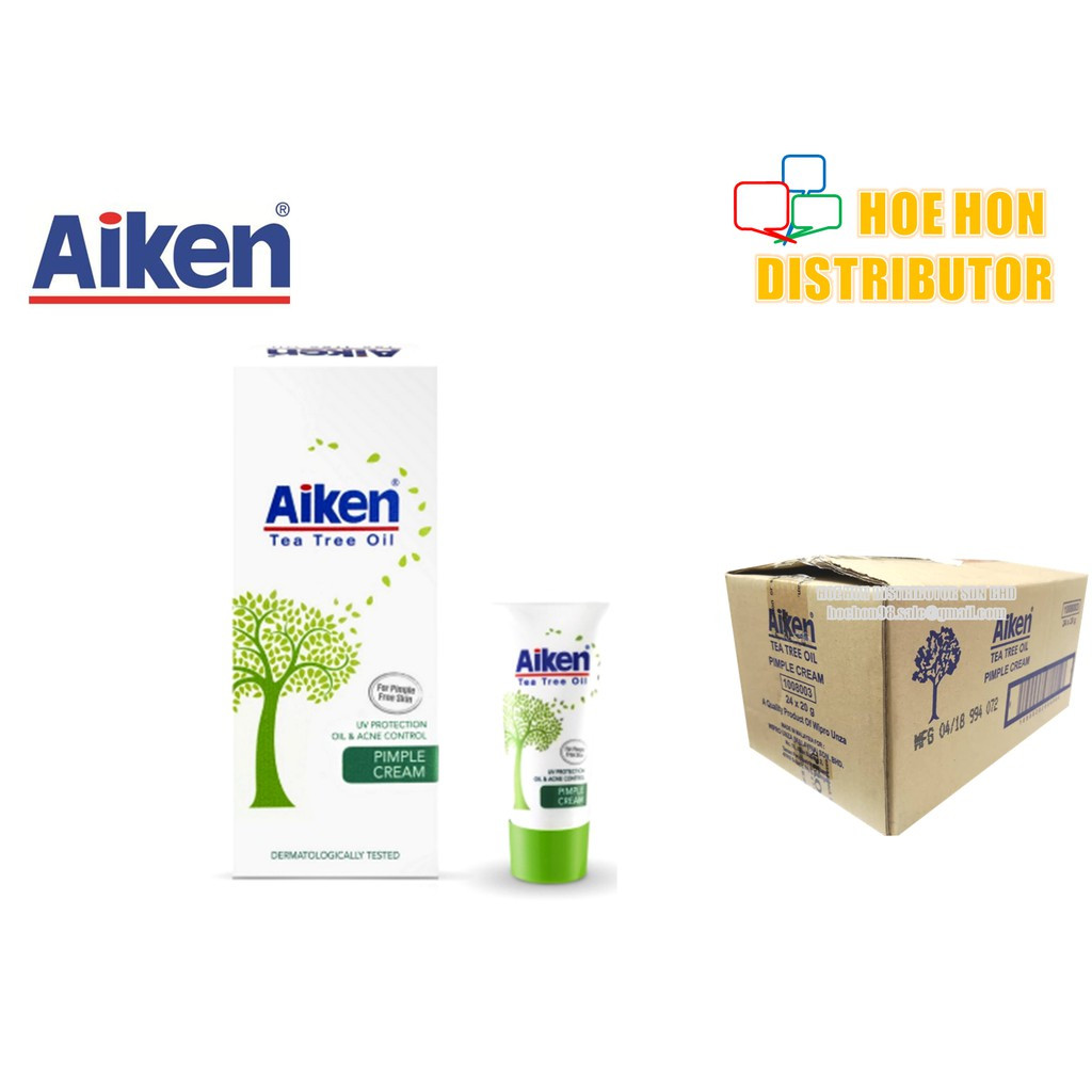 image of Aiken Tea Tree Oil Pimple Cream / Krim Jerawat (Oil & Acne Control) 20g