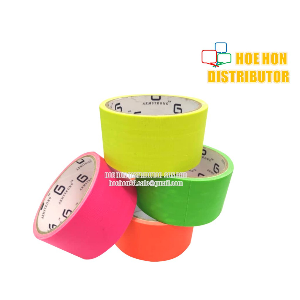 image of Fluorescent Binding / Cloth / Duct Tape 48mm X 5 Meter (2 Inch) DIY Creative