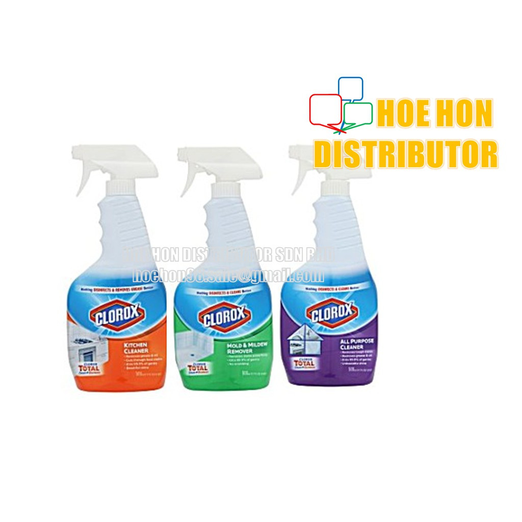 image of Clorox Total Cleans + Disinfects Spray 500ml Kitchen, Mold, Mildew Remover, All
