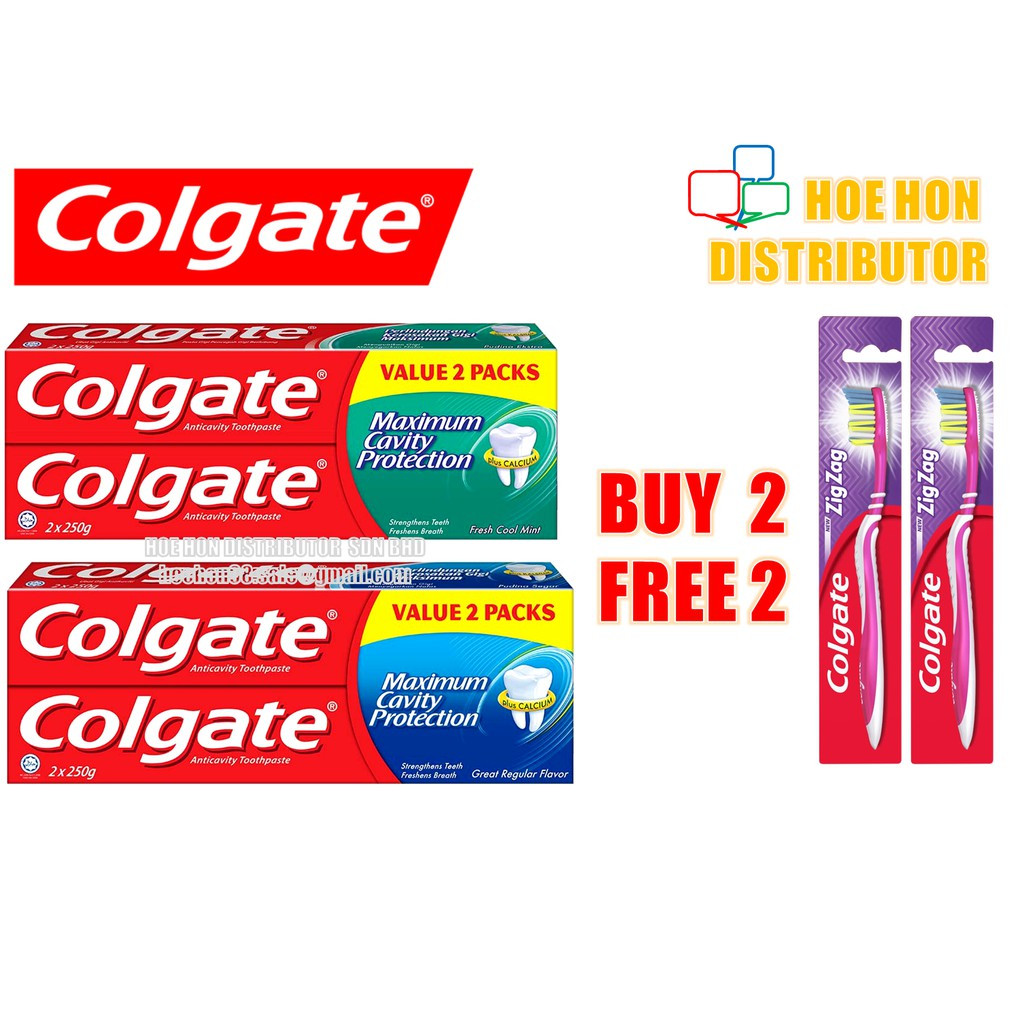image of [Value Pack] Colgate Maximum Cavity Protection Regular Toothpaste 250g X 2
