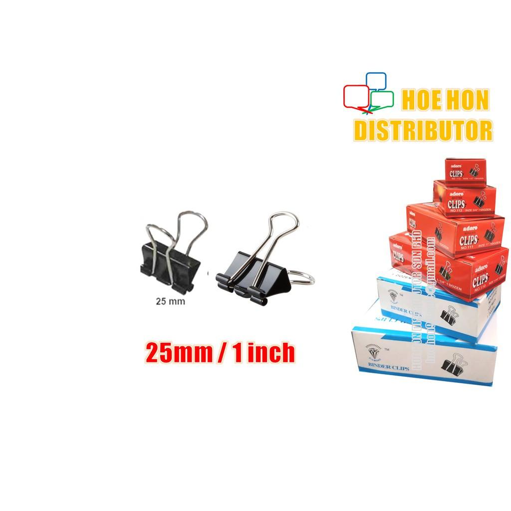image of Multipurpose Binder Clips 25mm (1 Inch) 12pcs / Box
