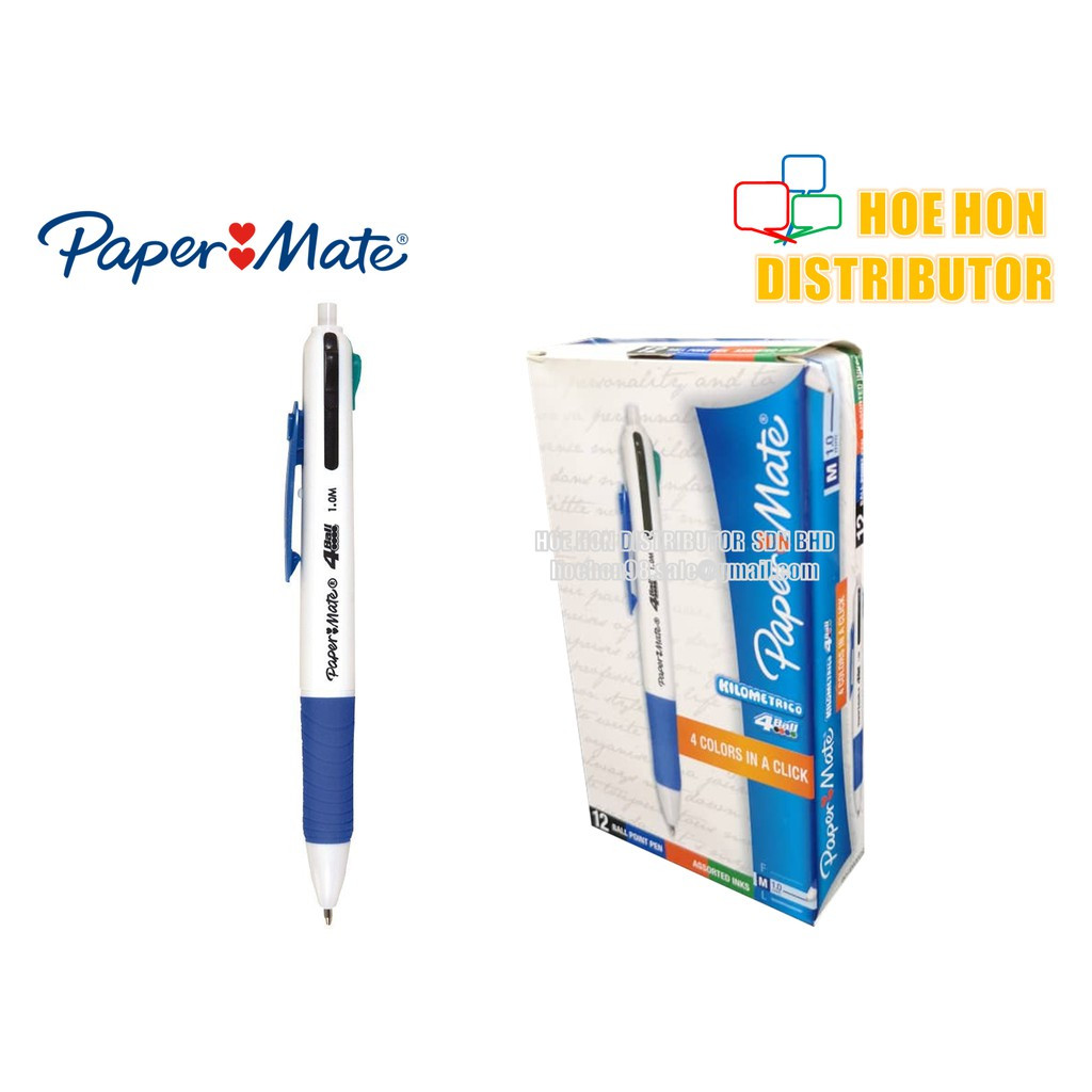 image of Papermate Kilometrico 4 In 1 Ball Pen 1.0mm (4 Colour Pen)
