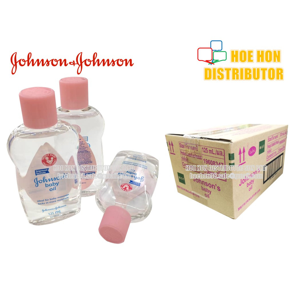 image of Johnson's Baby Regular Oil / Minyak Bayi Johnson 125ml Pink