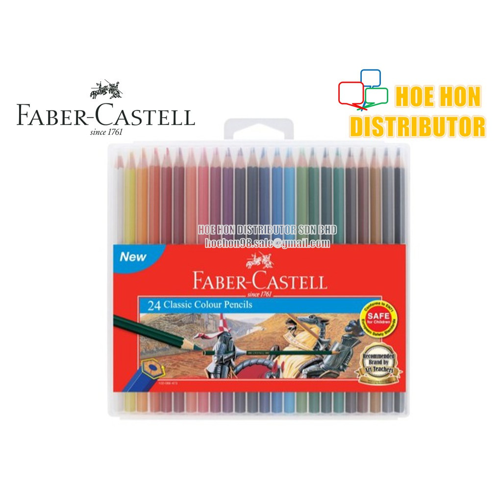 image of Faber-Castell / Faber Castell Slim Flexi Case Classic Colour Pencil 24 115896