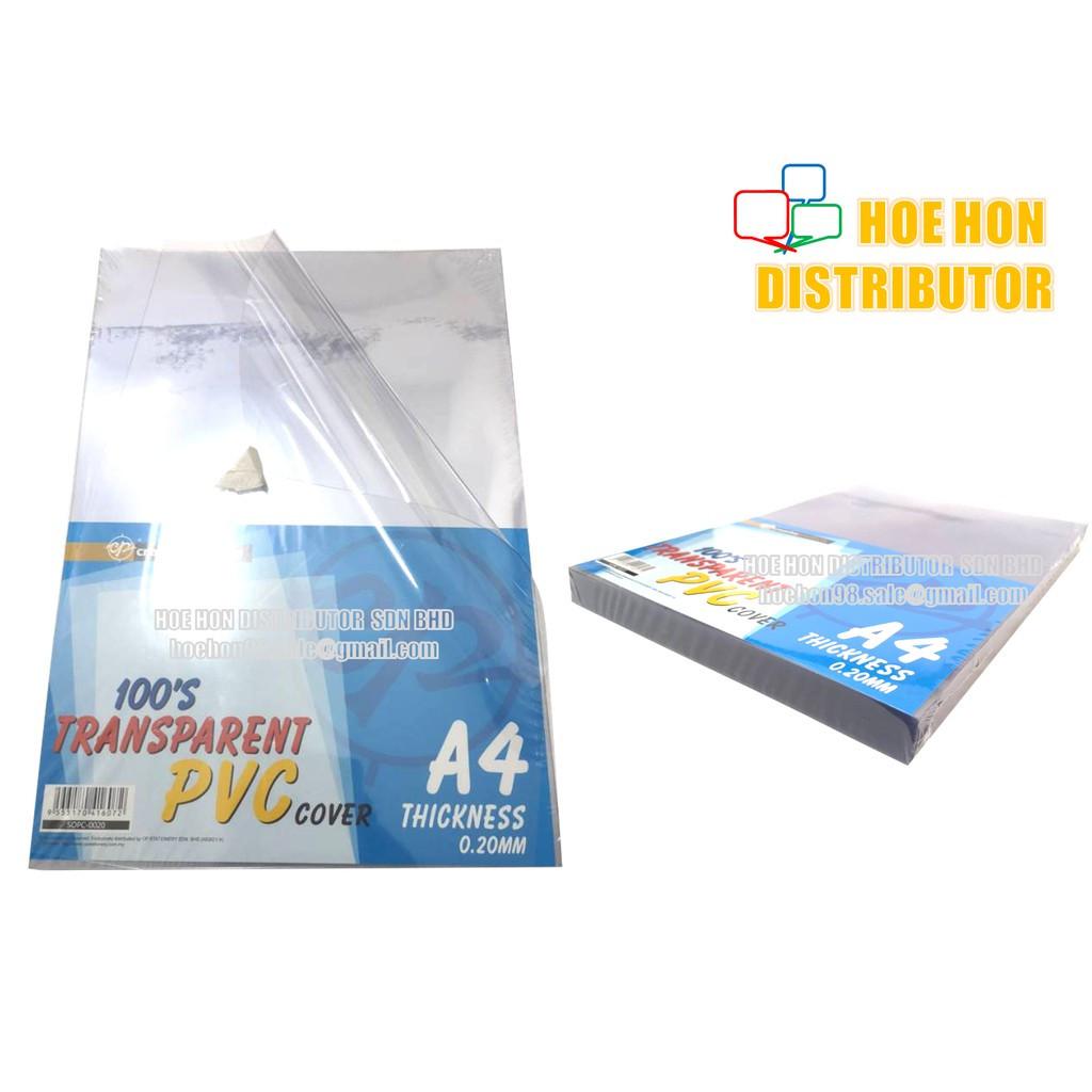 image of Multipurpose Transparent Binding PVC / Plastic Sheet Cover A4 10pcs