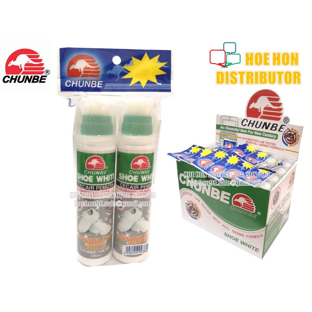 image of Chunbe Anti Bacterial Sparkling Shoe White 120ml X 2unit / Cecair Pemutih