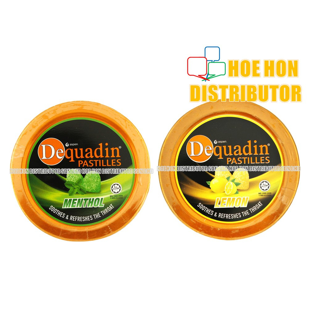 image of Dequadin Pastilles 50g Menthol / Lemon Soothes & Refreshing Throat