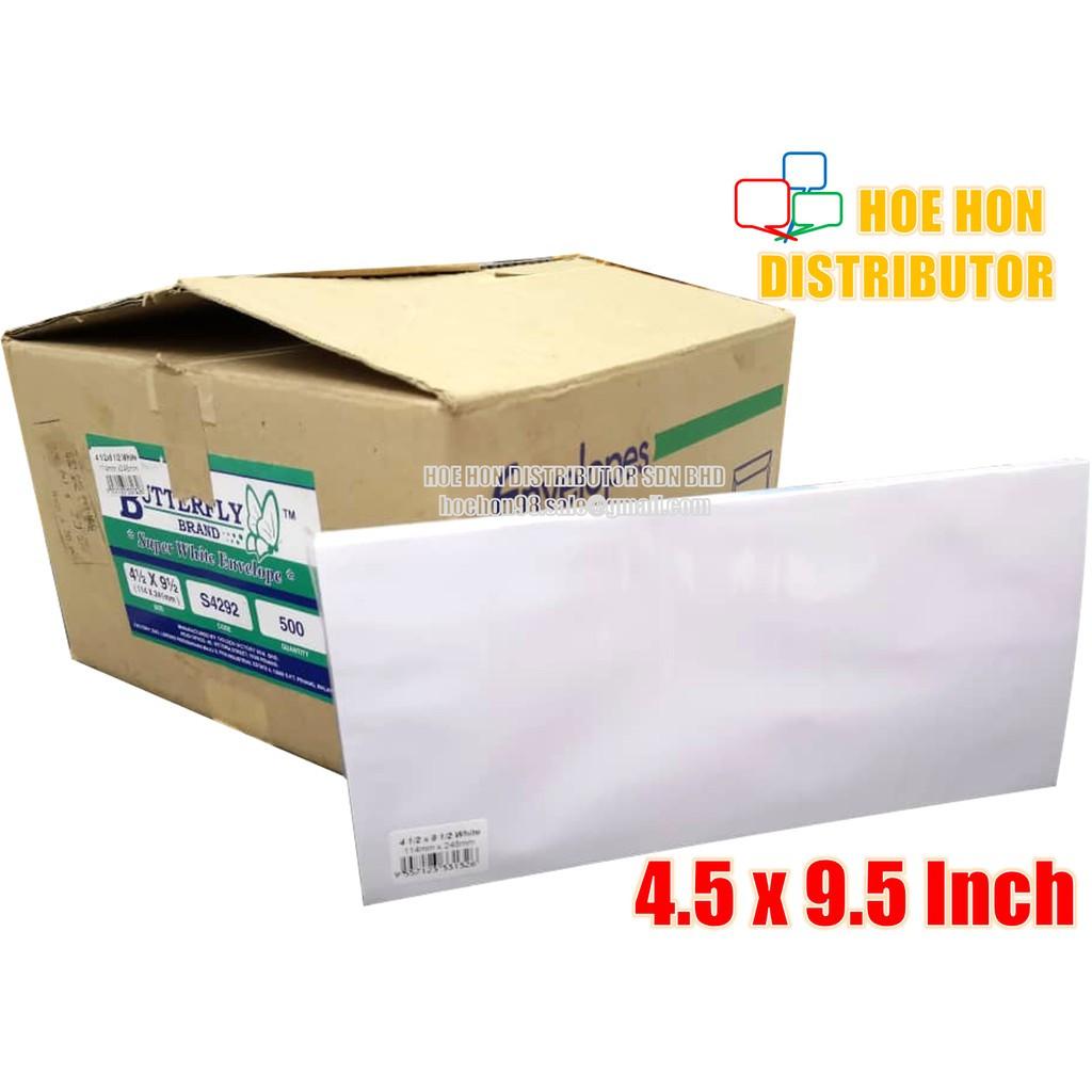 image of Long White Envelope / Sampul Surat 4.5 X 9.5 Inch / 114 X 240mm