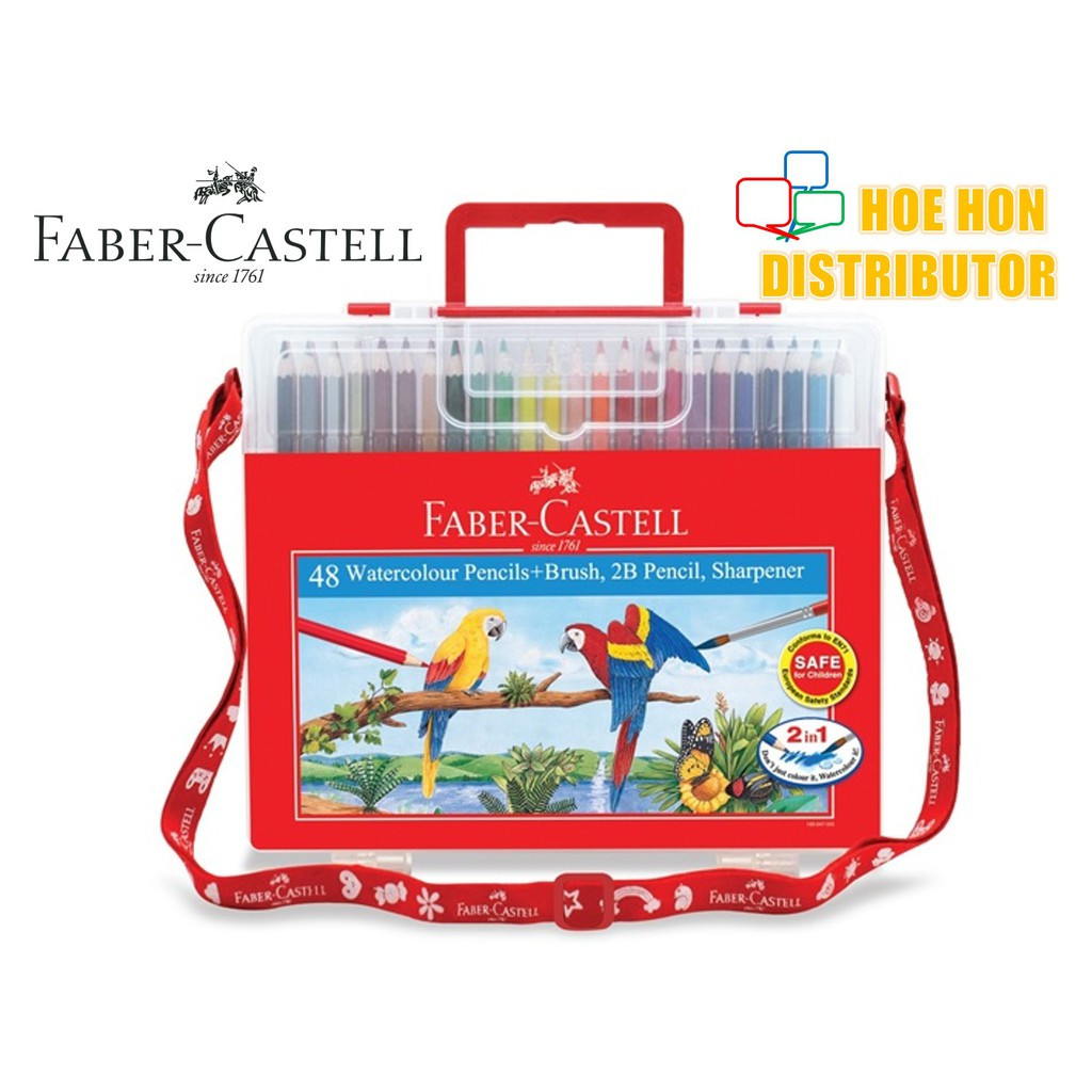 image of Faber Castell / Faber-Castell Wonder Box Water Color Colour Pencil 48 Long