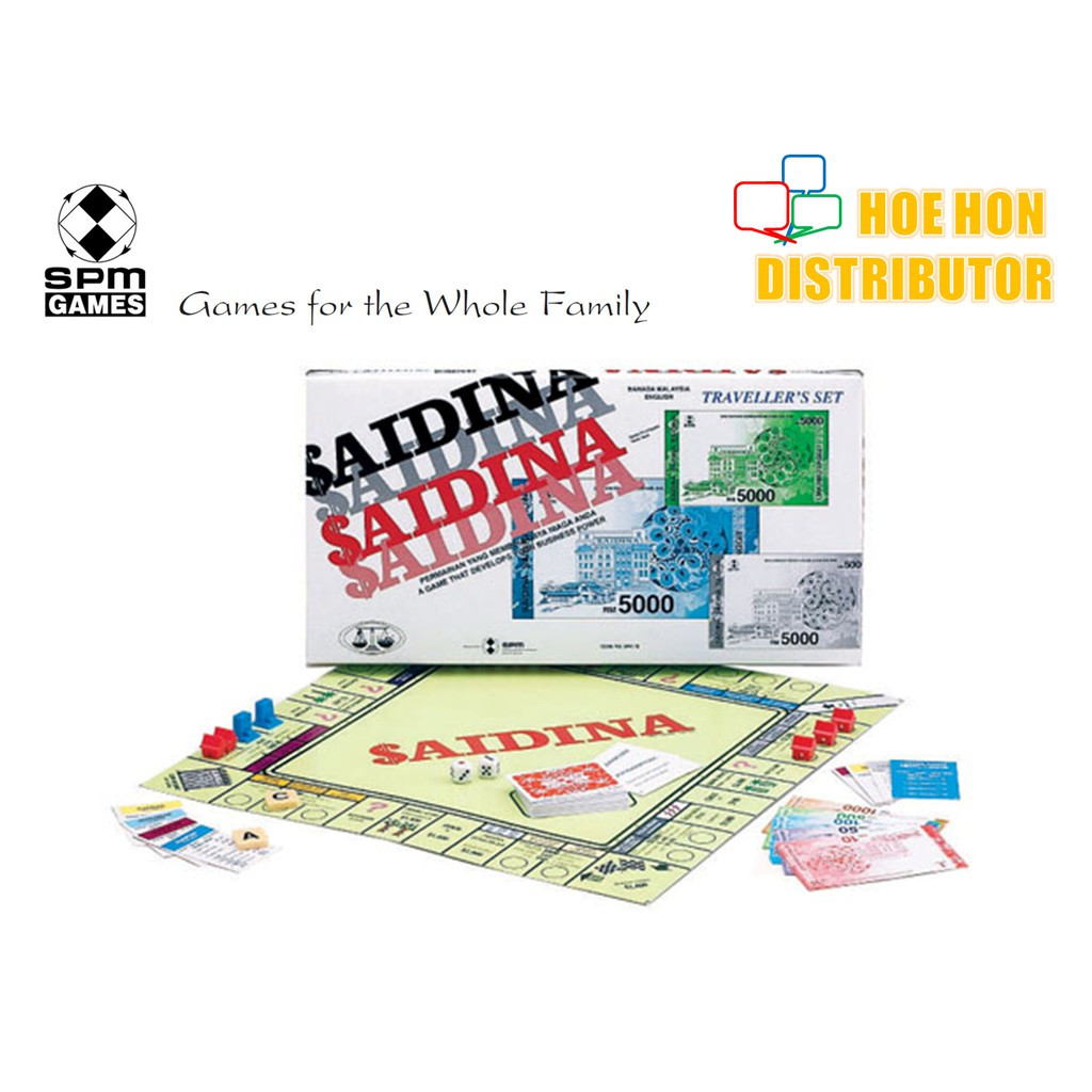 image of Saidina Traveller Bahasa Malaysia - English Board Game Set SPM 78