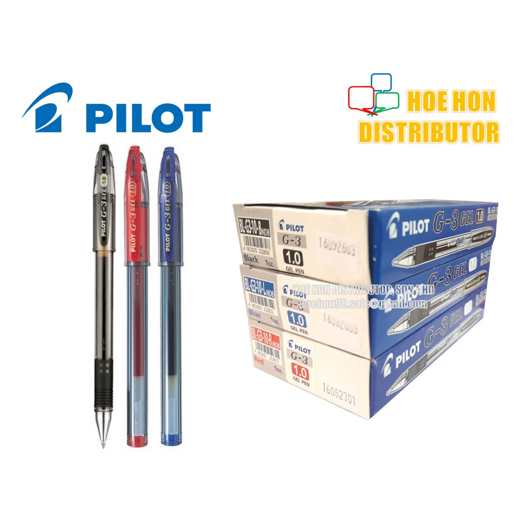 image of Pilot G3 Gel Pen 1.0 Mm Black / Blue / Red (ORIGINAL)
