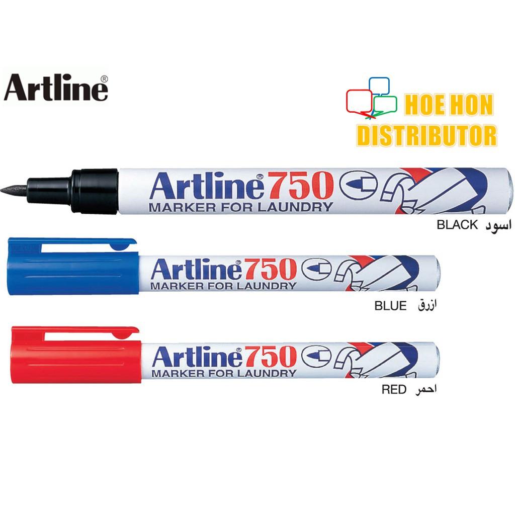 image of Artline Laundry Permanent Marker 750 Black Blue Red