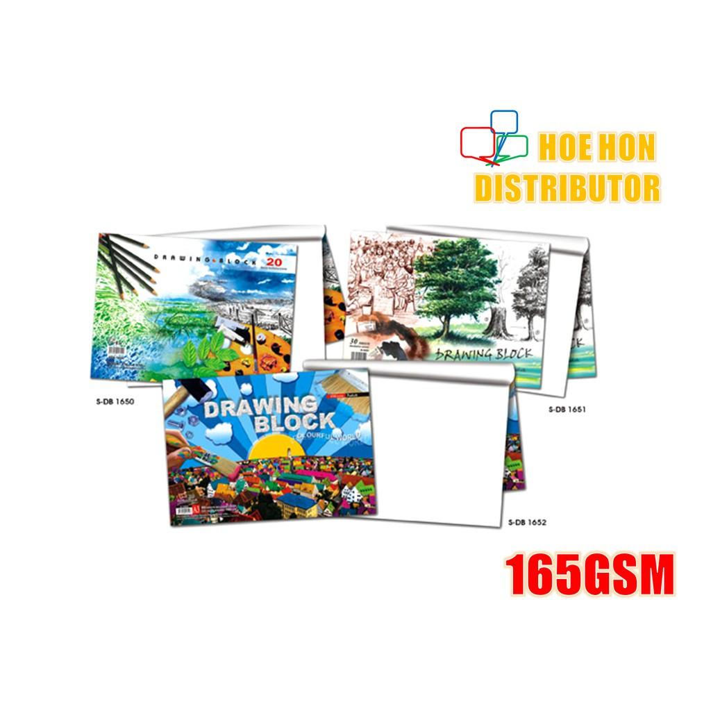 Drawing Block / Buku Lukisan A3 165gsm X 18 Sheet
