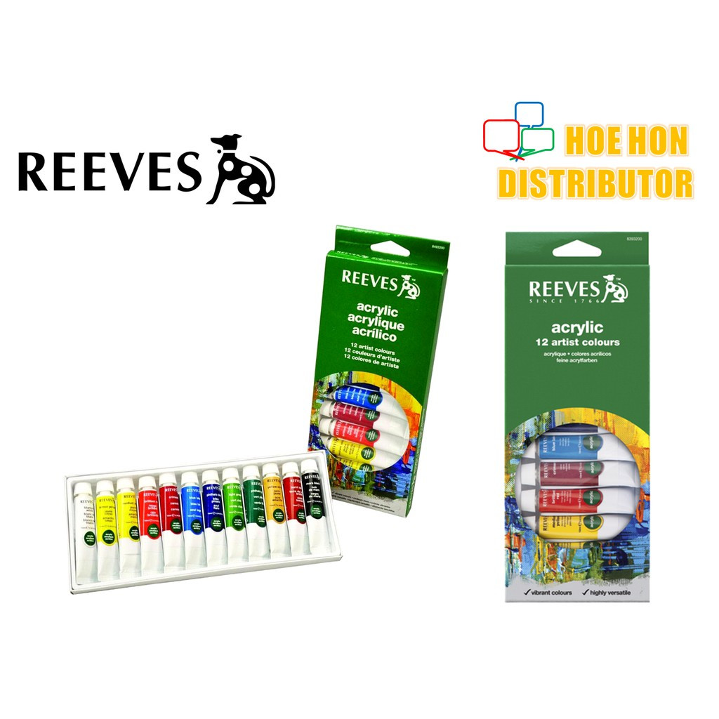 Reeves Acrylic 12 Artist Colours / Color
