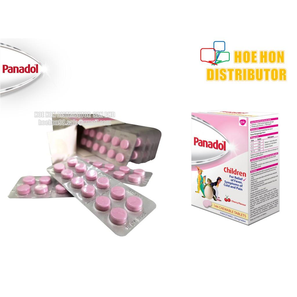 image of Panadol Chewable Fever Tablet For Children 12 Tablets / Strip