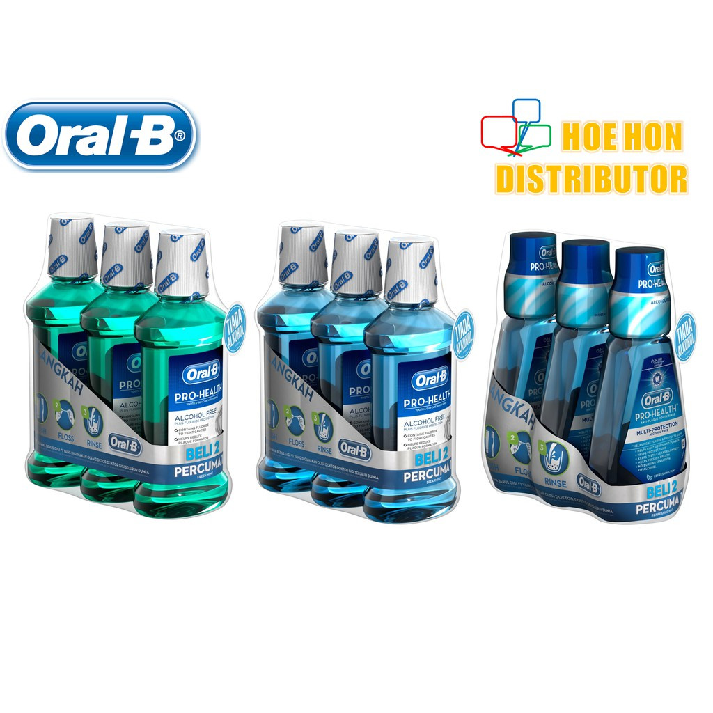 image of Oral B Pro Health Mouth Rinse 500 Ml (Alcohol Free) Mouth Wash, Listerine