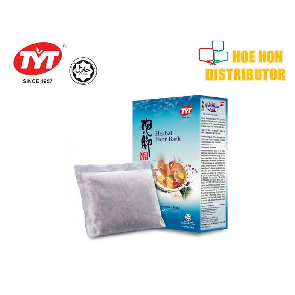 image of TYT Herbal Foot Bath / Herba Rendaman Kaki TYT 42g X 4 Sachet