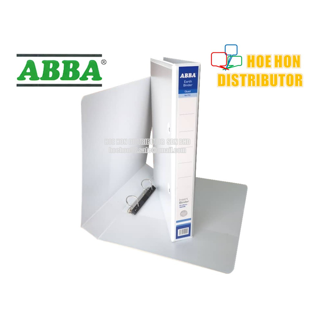 image of ABBA White Insert Binder 2D Ring File / Fail Putih 25mm