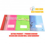 Hard Cover Foolscap Exercise Note Book / Buku Log Kulit Tebal F4 200 Pages