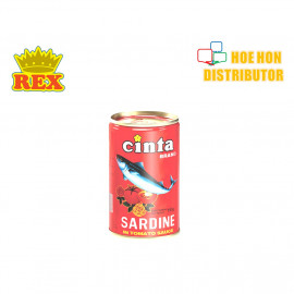 image of Rex Cinta Sardine In Tomato Sauce Canned / Tin Ikan Sardin Sos Tomato 155g HALAL