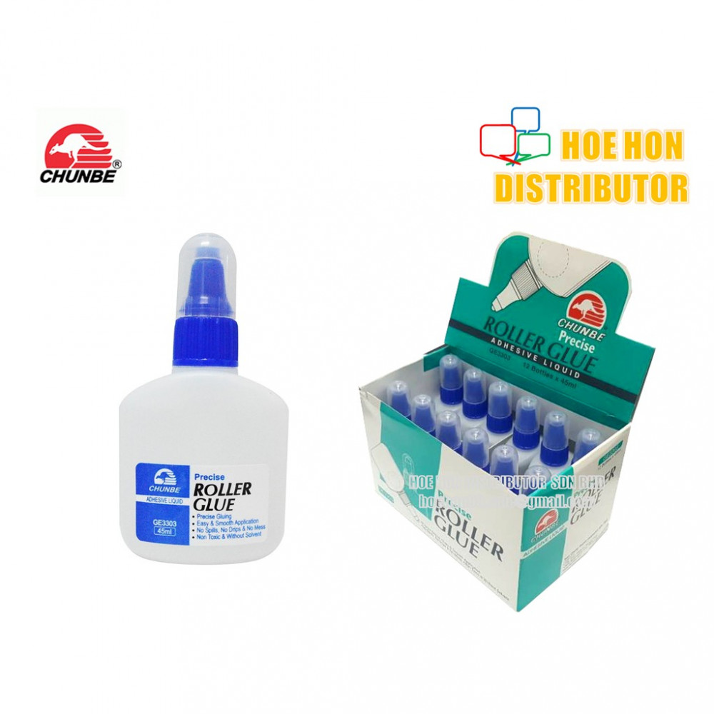 Chunbe Precise Roller Glue Adhesive Liquid 45ml With Nozzle Ball GE3303