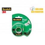 3M Scotch Magic Tape With Dispenser 19mm X 4m (3/4 Inch X 4.36 Yard)