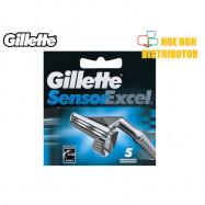 image of Gillette Sensor Excel Refill 5 Pcs Cartridge / Pisau Cukur