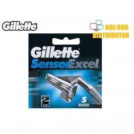 image of Gillette Sensor Excel Refill 5 Pcs Cartridge / Pisau Cukur