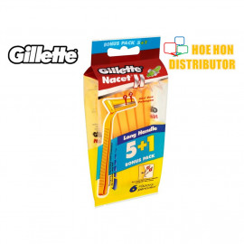 image of Gillette Nacet II / Nacet 2 Disposable Razor 5+1 Bonus Pack (ORIGINAL)