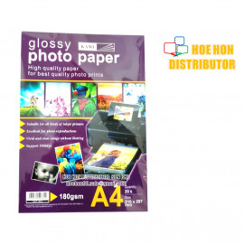 image of Glossy Photo Paper A4 180gsm / 180g 20pcs