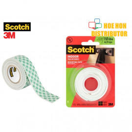 image of 3M Scotch Indoor Permanent Mounting Tape 25.4mm X 1.27m (1 Inch X 1.38 Yard)