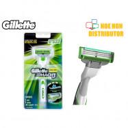 image of Gillette Mach 3 Sensitive Razor Blade / Pisau Cukur Gillete Mach3 ORIGINAL