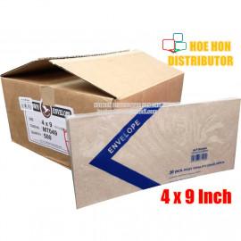 image of Long Brown Envelope / Sampul Surat 4 X 9 Inch / 101 X 228mm