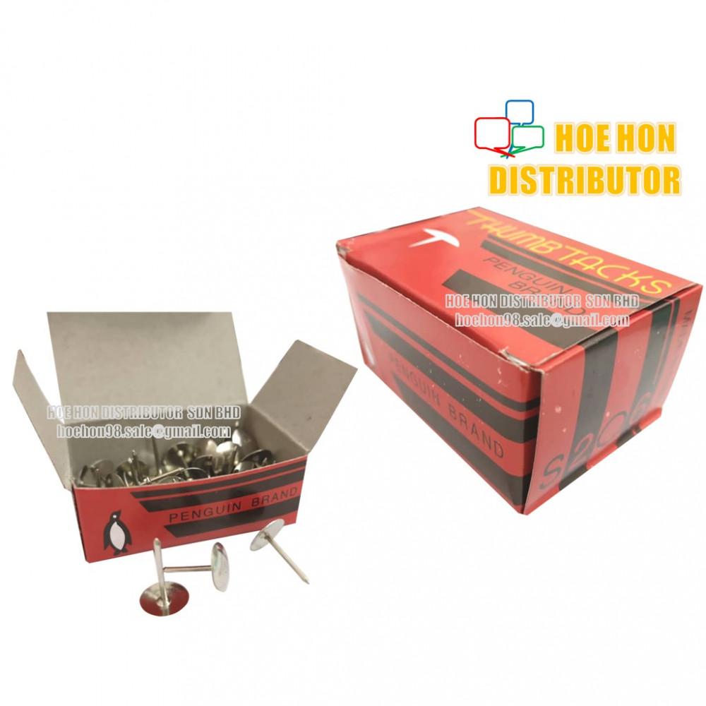School & Office Long Pin Thumb Tack / Thumbtack / Paku Tekan 16g S206