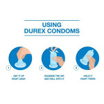 Durex Extra Time Ribbed Air Condom 3pc / 3s